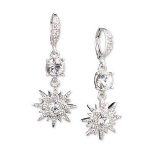 Givenchy Silver-Tone Crystal Star Earrings